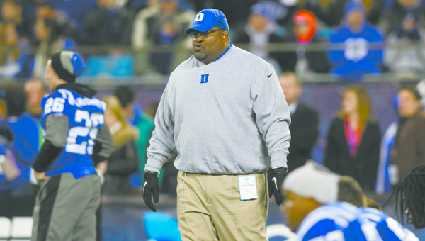 Atmore native Ron Middleton, pictured here as Duke University's tight ends and assistant special teams coach was hired last month to the same positions with the National Football League's Jacksonville Jaguars.