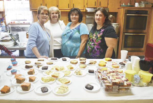 Those who served the dinner were, left to right, Julie Pickern, Joyce Rhinehart, Jimmie Williams and Sonja Lambert. Not pictured is Emily Lambert.