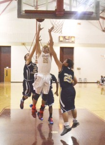 Northview's Nick Lambert goes up for a shot against Holmes County on Thursday.|Photo by Justin Schuver