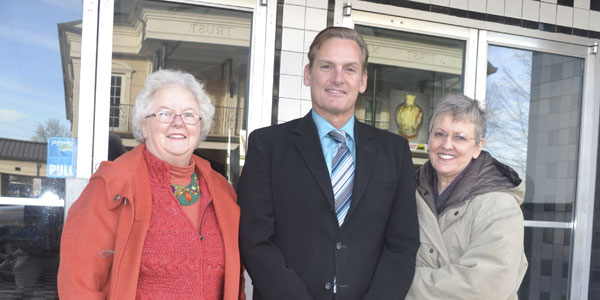 Pride of Atmore board members Nancy Karrick, Bub Gideons and Nancy Helton are among a group of citizens who hope to raise enough money to purchase the Strand theater for historic preservation. Also on the board of directors are Sheryl Vickery, Christopher Rowland and Leigh Ann Rowland.