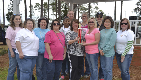 """The team from Atmore Community Hospital won first place in the First Annual """"Support ACH Chili Cook-Off"""" held Saturday afternoon at Tom Byrne Park."""