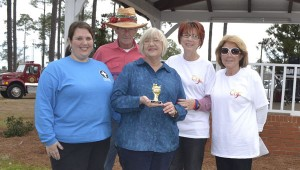 First United Methodist Church's chili cooks took third place in the judging.