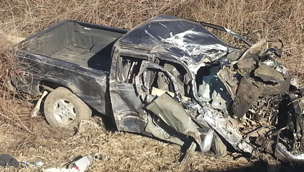 A Frisco City man was killed in a bad accident Friday morning, after his truck clipped the guard rail of the Sizemore Creek bridge and went into a ditch.