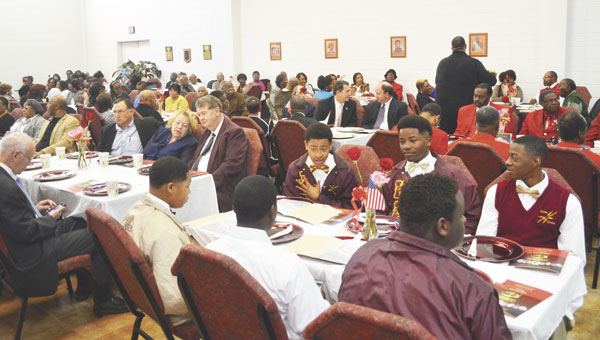 The fellowship hall at Greater Mt. Triumph Missionary Baptist Church was filled to capacity at Saturday's breakfast.