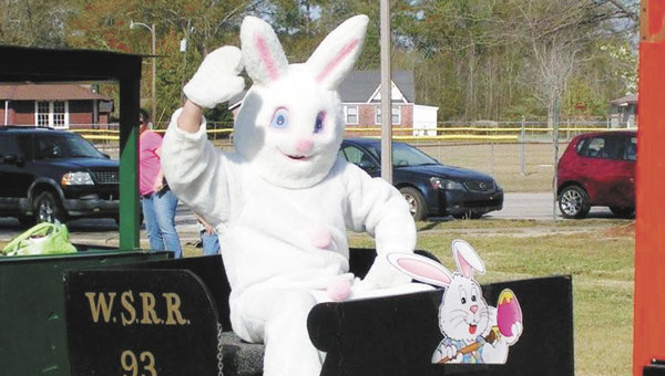 The Easter bunny will visit Heritage Park on Saturday, April 19.