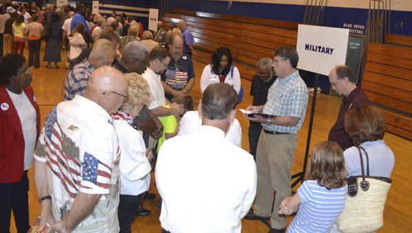 "Several area pastors led ""breakout sessions,"" where participants prayed for several different aspects of American life — including the military, government, families, businesses, the media, churches, and education."