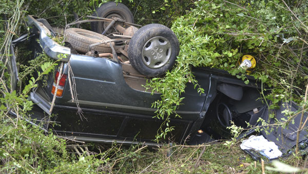 An elderly woman was injured Thursday morning, after her vehicle ran off Florida Highway 97, about a mile south of Atmore. First responders said her injuries did not appear life-threatening.