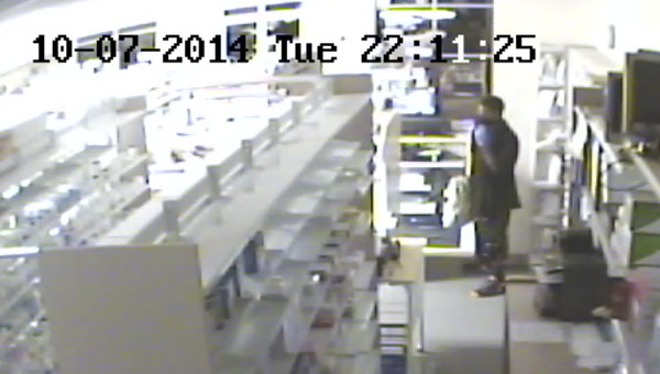 This footage shows the second suspect in Tuesday's burglary. Anyone who has any information about this case is asked to call the Atmore Police Department at (251) 368-9141.