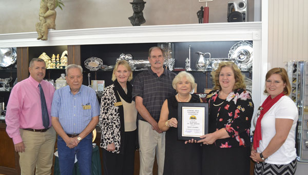 Earle's Jewelers was named the Business of the Month for October.