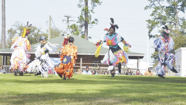 Tribal dancers show off their skills at last year's pow wow. This year's event starts Thursday at 10 a.m.