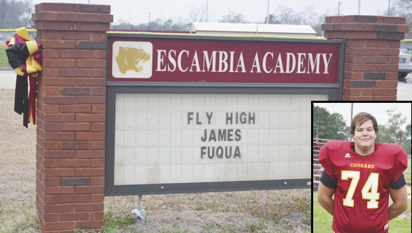 Fuqua was a senior at Escambia Academy, and was a member of the football and weightlifting teams.
