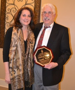 Foster Kizer was the recipient of the 2014 Citizen of the Year Award. Shown with Kizer is his sister, Frances Hartzog of Prattville.