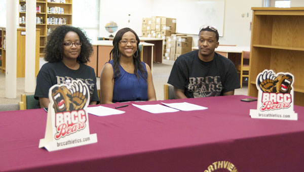 NHS basketball senior E'Layzha Bates signed Thursday morning to play college basketball at Baton Rouge Community College.|Photo courtesy of Kamryn Brock/NHS yearbook staff
