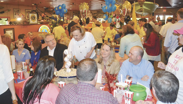 """There was hardly an empty seat in David's Catfish House on Monday evening, during the """"Celebrity Server Dinner"""" to benefit Pride of Atmore and Save the Strand."""