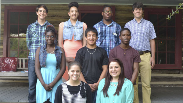 The 2015-16 Chamber Ambassadors are: back row, left to right, Nathan Jurjevich, Paige Martin, Emmanuel Morris and Ethan Heller; middle row, left to right, Mariah Freeman, Arri Torres and Jakius Brown; front row, left to right, Madelyn Boatwright and Madalynn Grimsley. Not shown are Mikayla Spruill, Sage Garrett and Chyla Lindsey.