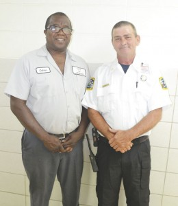 New streets superintendent Calvin Grace, left, and new fire chief Ronald Peebles, right.