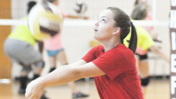 Northview's Catie Clayton passes the ball during practice last week. | Andrew Garner/Atmore Advance