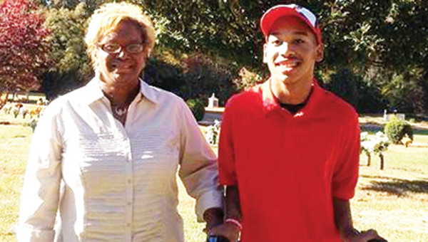 Saundra Adams with her grandson, Chancellor. | Submitted photo