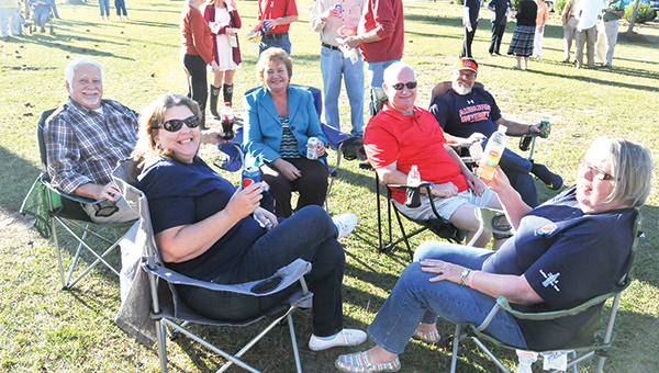 A party in the park was held Sunday for Pepsi Atmore for being nominated as one of the top bottlers of the year. For more on the event and to see photos, see Page 11A. Above: Shelly Jay, Gene Robinson, Debbie Dean, Wesley Hughes, Allen Jay and Wanda Hughes. |  Andrew Garner/Atmore Advance