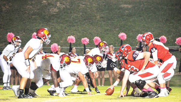 Escambia Academy's defensive line has been a positive force for the Cougars this season. EA visits Lee-Scott for in a playoff game Friday night. | Andrew Garner/Atmore Advance