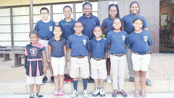 A.C. Moore Elementary recognized the star students for November. Shown in the front row from L to R: Kori Dailey, Jessica Cuenca, Darion Green, Tavion Marshall, Trinity Riley and MaKenna Day. Back row from L to R: Luis Garcia, Aniya White, Jyrin Brown, Alivia Dees and Brandon Rhodes. | Allison Brown/Atmore Advance