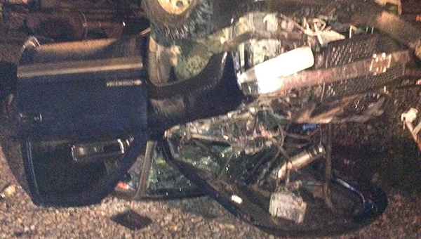 An Atmore man was injured in a wreck with a train Saturday afternoon. | Andrew Garner/Atmore Advance