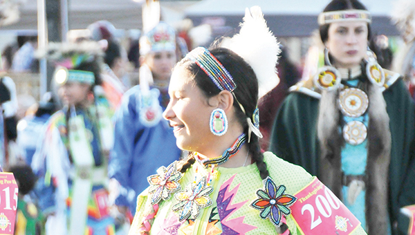 Hope Tucker dances during the Thanksgiving Pow Wow. | Andrew Garner/Atmore Advance