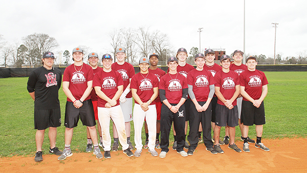 Escambia Academy's baseball team includes coach Jeff Price, Brad Quimby, Josh Fields, Kainoa Gumapac, Ryan Johnson, Tyler Sutton, Drew Koons, Bradley Campbell, H.T. Fountain, Ben Martin, Fred Flavors, Zach Koons, Cole Waters and Chris Brown. | Walt Butler/Atmore Advance