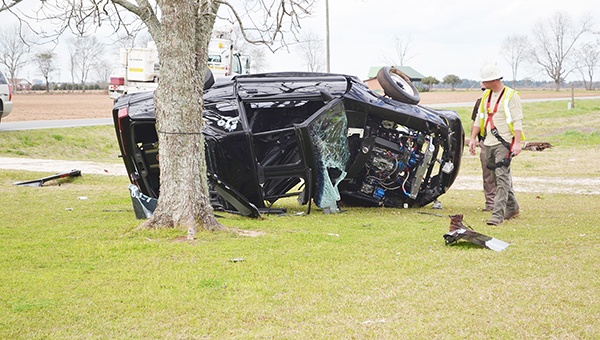 An Atmore man was killed when his car ran off the road off of Pouncey Road. Allison Brown/Atmore Advance