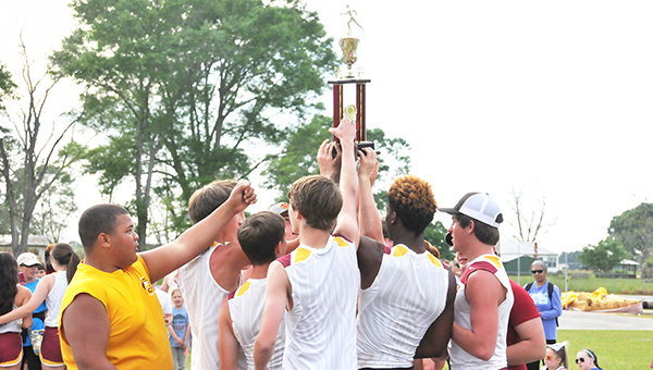 Escambia Academy's junior varsity boys track and field team won the AISA Class 3A state champoinship Saturday.   Andrew Garner/Atmore Advance