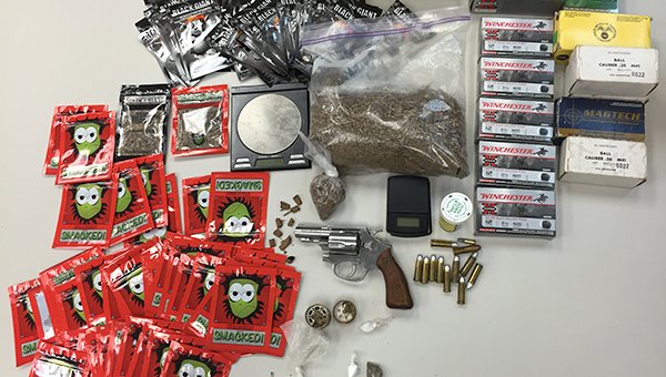 APD Chief Chuck Brooks said a subsequent search of the residence revealed numerous illegal drug items, including 278 grams of synthetic marijuana, hydrocodone, methamphetamine, cocaine, marijuana and drug paraphernalia. | Submitted photo
