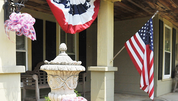 Motorists who travel down Jack Springs Road may have noticed the Langford's front display of patriotic memorabilia as shown here, in preparation for the upcoming firework show at Wind Creek Casino on Mon., July 4, at 7:30 p.m. | Andrew Garner/Atmore Advance