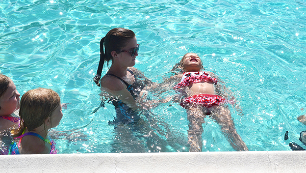 The city pool also holds a safety class that teaches the children different safety precautions, such as not to go in water over their heads, wear life jackets if water is over their heads and no running around pools. | Savannah Peak/The Atmore Advance