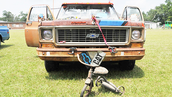 """Jerrimie """"Rooster"""" Bryars' Chevrolet truck, """"Douglas,"""" won the first-ever Ugly Truck contest Saturday.   Andrew Garner/Atmore Advance"""