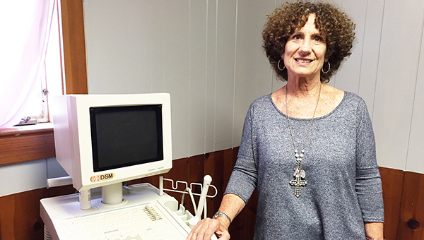 Sav-A-Life Women's Resource Center Executive Director Linda Smith stands in the ultrasound room. | Andrew Garner/Atmore  Advance