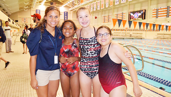USA Olympic Swimmer Megan Fonteno, Kamryn Langham, Addison Albritton and Meredith McGhee. | Submitted photo