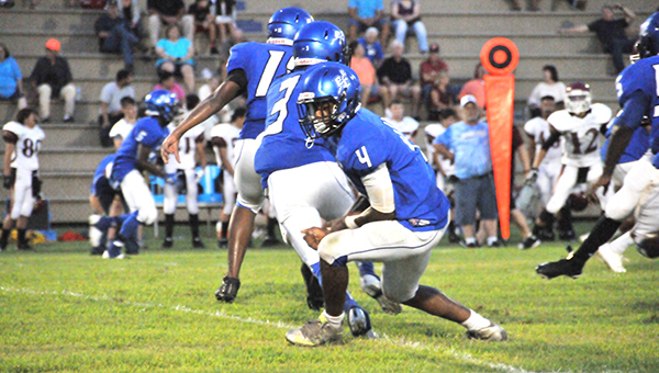 Escambia County is still looking for a quarterback to step up and lead the Blue Devils this season. | Andrew Garner/Atmore Advance