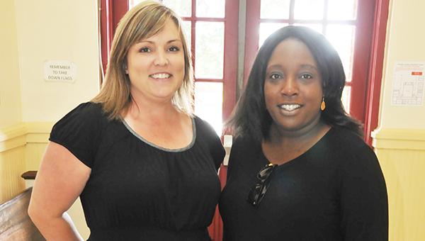 Kristin Wasdin (left) and Jami Martin (right) are new teachers at Escambia Academy Elementary. | Andrew Garner/Atmore Advance