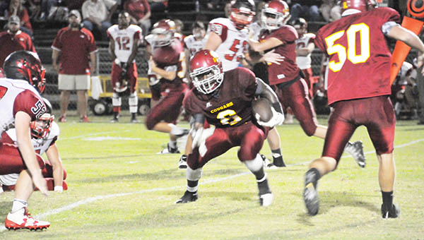Escambia Academy's Kris Brown (6) scored two touchdowns for the Cougars in last week's rout over Jackson Academy.   Andrew Garner/Atmore Advance