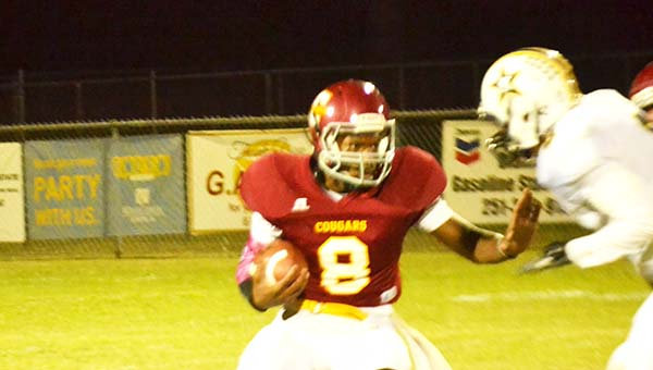 Escambia Academy's Patrick McGhee (8) had a 71-yard kick off return for a touchdown Friday night. | Andrew Garner/Atmore Advance