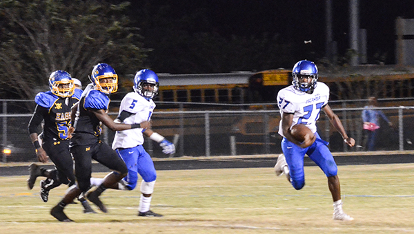 William Bradley reverses field on the Neal defense for a first down. | Corey Williams/The Brewton Standard